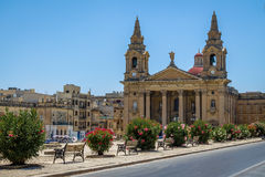 Εκκλησία του ST Publius σε Floriana - Valletta, Μάλτα στοκ εικόνες