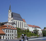 Εκκλησία του ST Vitus σε Cesky Krumlov Στοκ Φωτογραφίες