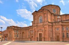Εκκλησία τούβλου σε Venaria Reale, Ιταλία. στοκ φωτογραφίες
