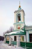Εκκλησία τριάδας στους λόφους σπουργιτιών στη Μόσχα Στοκ Φωτογραφίες
