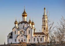 Εκκλησία τριάδας Pyatiprestolny στη μονή Iver στο Ροστόφ - επάνω - Δ Στοκ Εικόνες