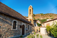 Εκκλησία των επιβαρύνσεων Γεώργιος στο χωριό Gourri Περιοχή της Λευκωσίας Κύπρος Στοκ εικόνες με δικαίωμα ελεύθερης χρήσης