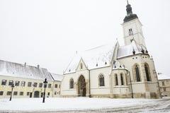 Εκκλησία των σημαδιών του ST στο Ζάγκρεμπ, Κροατία Στοκ Εικόνα