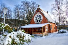 Εκκλησία Χριστού Αγγλικανική Εκκλησία - Marianske Lazne - Δημοκρατία της Τσεχίας Στοκ Φωτογραφίες