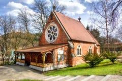 Εκκλησία Χριστού Αγγλικανική Εκκλησία - Marianske Lazne - Δημοκρατία της Τσεχίας Στοκ Φωτογραφία