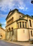 Εκκλησία Χριστού στο ιστορικό κέντρο Λουκέρνης - την Ελβετία Στοκ Φωτογραφία