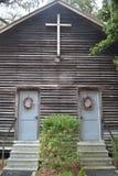 Εκκλησία χώρας Ol Lil - μπροστινές πόρτες Στοκ φωτογραφίες με δικαίωμα ελεύθερης χρήσης