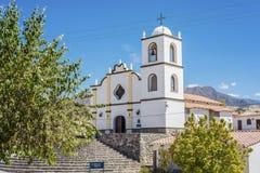 Εκκλησία Angastaco στη διαδρομή 40, Salta, Αργεντινή Στοκ φωτογραφία με δικαίωμα ελεύθερης χρήσης
