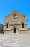 Εκκλησία Annunciation Νέα πόλη Νησί της Ρόδου Ελλάδα Στοκ εικόνες με δικαίωμα ελεύθερης χρήσης