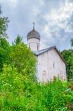 Εκκλησία Annunciation σε Arkazhi ή η εκκλησία Annunciation στη λίμνη Myachino σε Veliky Novgorod, Ρωσία Στοκ Εικόνες
