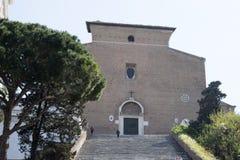 Εκκλησία coeli Ara στη Ρώμη Στοκ Φωτογραφίες