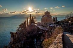 Εκκλησία Kaneo StJovan, Οχρίδα, Μακεδονία Στοκ εικόνα με δικαίωμα ελεύθερης χρήσης