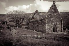 Εκκλησία Kilmalkedar Dingle χερσόνησος Ιρλανδία Στοκ φωτογραφίες με δικαίωμα ελεύθερης χρήσης