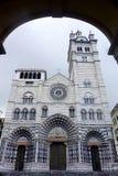 Εκκλησία Lawrence SAN Lorenzo Ιταλία της Γένοβας καθεδρικών ναών Στοκ Εικόνα