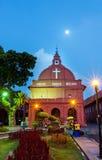 Εκκλησία Malacca Χριστού και ολλανδικό τετράγωνο Στοκ Εικόνες