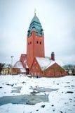 Εκκλησία Masthugg το χειμώνα, Γκέτεμπουργκ, Σουηδία, φωτογραφία HDR Στοκ εικόνες με δικαίωμα ελεύθερης χρήσης
