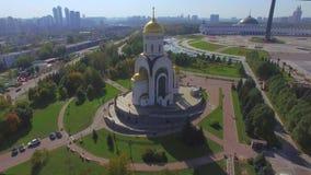 Εκκλησία Mikhail αρχαγγέλων στη Μόσχα απόθεμα βίντεο