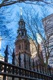 Εκκλησία NYC τριάδας Στοκ Εικόνες