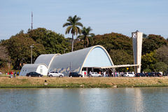Εκκλησία Pampulha στοκ εικόνα με δικαίωμα ελεύθερης χρήσης