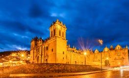 Εκκλησία Plaza de Armas Cuzco Περού καθεδρικών ναών Στοκ φωτογραφίες με δικαίωμα ελεύθερης χρήσης