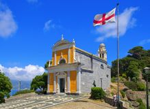 Εκκλησία Portofino Στοκ φωτογραφία με δικαίωμα ελεύθερης χρήσης