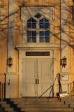 Εκκλησία RÃ¥neÃ¥ στο χειμερινό ήλιο Στοκ Φωτογραφίες