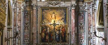 Εκκλησία SAN Gregorio Armeno, Νάπολη Ιταλία Στοκ φωτογραφία με δικαίωμα ελεύθερης χρήσης