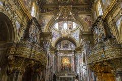Εκκλησία SAN Gregorio Armeno, Νάπολη Ιταλία Στοκ Εικόνα