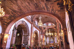Εκκλησία SAN Miguel de Allende Μεξικό Parroquia Χριστουγέννων βασιλικών Στοκ Εικόνα