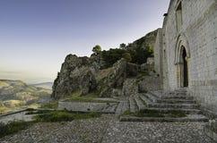 Εκκλησία SAN Salvatore σε Caltabellotta (Σικελία, Ιταλία) Στοκ Εικόνες