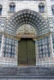 Εκκλησία ST Lawrence Lorenzo Ιταλία της Γένοβας πορτών καθεδρικών ναών Στοκ εικόνα με δικαίωμα ελεύθερης χρήσης