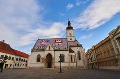Εκκλησία StMarko στην πόλη Ζάγκρεμπ Στοκ Εικόνες