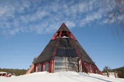Σύγχρονη εκκλησία στη Σουηδία Στοκ Εικόνες