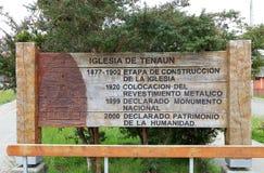 Εκκλησία Tenaun, νησί Chiloe, Χιλή στοκ εικόνες