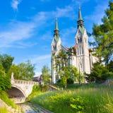 Εκκλησία Trnovo στο Λουμπλιάνα, Σλοβενία Στοκ Εικόνες