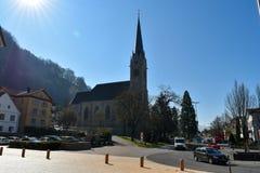 Εκκλησία Vaduz - του Λιχτενστάιν Στοκ Φωτογραφίες
