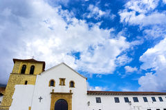 Εκκλησία Villa de Leyva Στοκ Φωτογραφίες