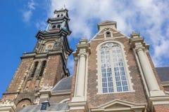 Εκκλησία Westerkerk στο ιστορικό κέντρο του Άμστερνταμ Στοκ Φωτογραφίες