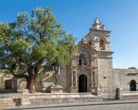 Εκκλησία Yanahuara ή San Juan Bautista de Yanahuara Church - Arequipa, Περού Στοκ εικόνες με δικαίωμα ελεύθερης χρήσης
