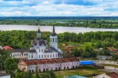 Εκκλησία Zachariah Tobolsk και κεντρική τοπ άποψη της Elizabeth στοκ φωτογραφίες με δικαίωμα ελεύθερης χρήσης
