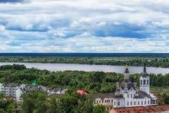 Εκκλησία Zachariah Tobolsk και κεντρική τοπ άποψη της Elizabeth στοκ εικόνες