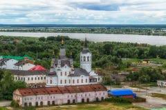 Εκκλησία Zachariah Tobolsk και κεντρική τοπ άποψη της Elizabeth στοκ εικόνες με δικαίωμα ελεύθερης χρήσης