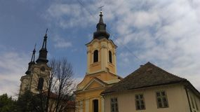 Εκκλησίες σε Sremski Karlovci Στοκ Εικόνα