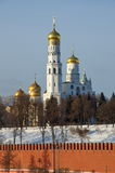 Εκκλησίες της Μόσχας Κρεμλίνο, Ρωσία Στοκ εικόνα με δικαίωμα ελεύθερης χρήσης