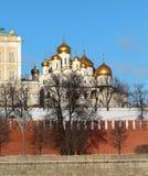 Εκκλησίες της Μόσχας Κρεμλίνο Στοκ φωτογραφίες με δικαίωμα ελεύθερης χρήσης