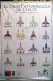Εκκλησίες Chiloe, Χιλή στοκ εικόνα