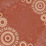 Εκλεκτής ποιότητας έμβλημα με τη floral δαντέλλα ελεύθερη απεικόνιση δικαιώματος