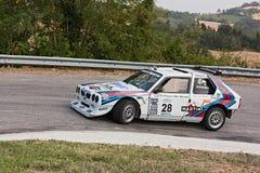 Εκλεκτής ποιότητας αγωνιστικό αυτοκίνητο Lancia του δέλτα S4 Στοκ Φωτογραφία