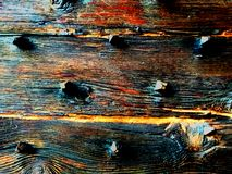Εκλεκτής ποιότητας αναδρομική παλαιά ξύλινη σύσταση υποβάθρου με τους κόμβους και τα μεγάλα καρφιά στοκ φωτογραφίες με δικαίωμα ελεύθερης χρήσης