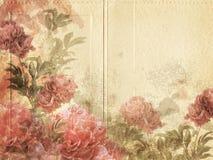 Εκλεκτής ποιότητας ανασκόπηση λουλουδιών στοκ εικόνα